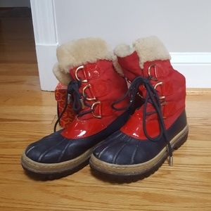 Tory Burch Shearling Winter Boots